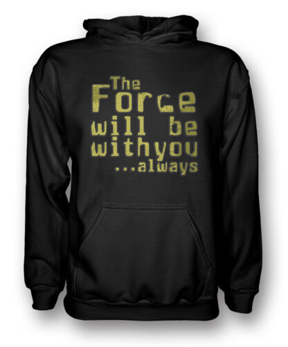 Star Wars Movie Inspired The Force will be with you always Mens Hoodie