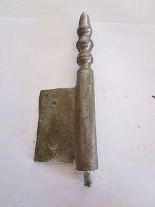 1 Ancienne Fiche à Larder-en Fer Forgé-antique Iron Door Hinges-18è Avoir à La Fois La Qualité De TéNacité Et De Dureté