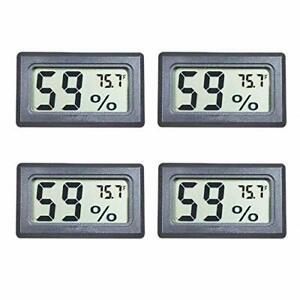 Veanic 4-Pack Mini Digital Electronic Temperature Humidity Meters Gauge Indoo...