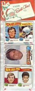 1975 Topps Football Holiday Christmas Rack Pack HOF Rookie RC Lynn Swann Poss?2'