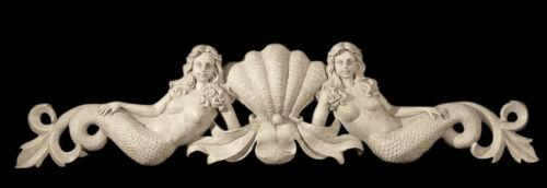 """Mermaids Wall Pediment Sculpture 39/"""""""