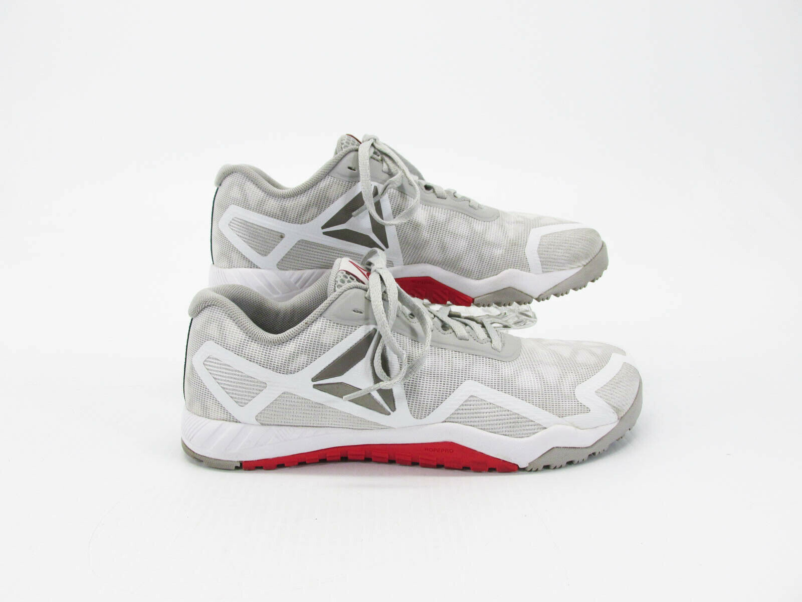 Reebok ROS Workout 2.0 Men White Athletic Training shoes Size 7.5M Pre Owned QJ