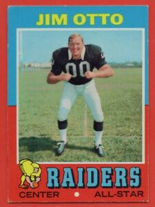 1971-Topps-151-Jim-Otto-EX-EXMINT-Hall-of-Fame-Oakland-Raiders-FREE-SHIPPING