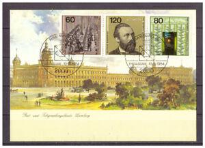 Rfa-Maximumkarte-Weltpostkongress-Minr-1215-1217-Esst-Hamburg-19-06-1984