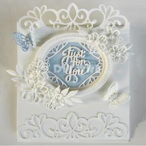 Lace Flower Frame Metal Cutting Dies Stencils Scrapbook Decor Embossing Craft