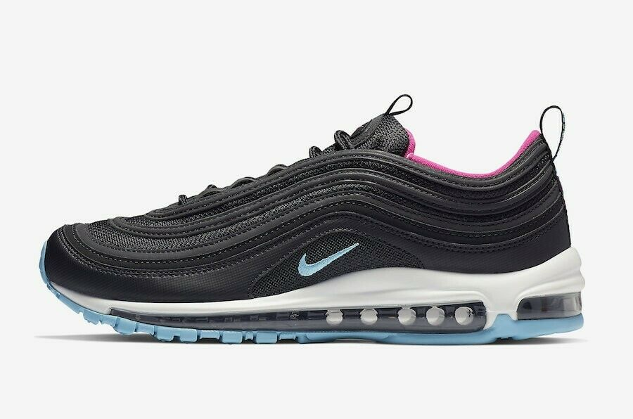 Nike Air Max 97 Miami Vice Sz 10 Authentic Black Pink Blue