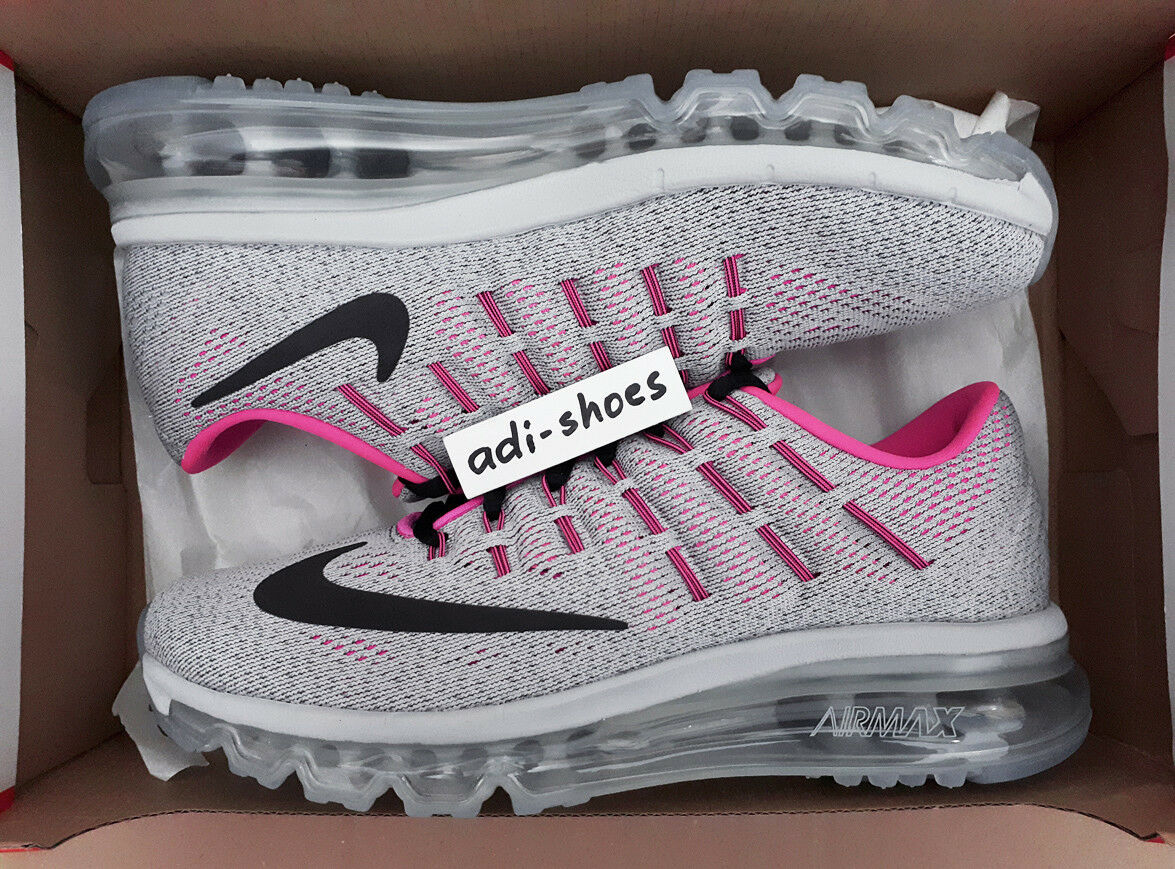NIKE AIR MAX 2016 (GS) KIDS WOLF GREY/HYPER PINK US 5,5Y 6Y prm 807237-002 2018
