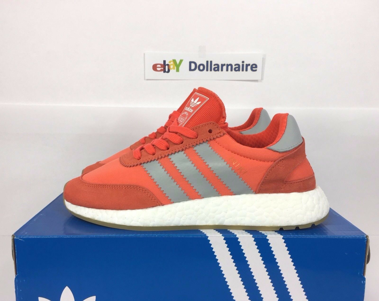 NEW Adidas Femme Iniki Runner BA9998 Energy Orange Blanc Gum