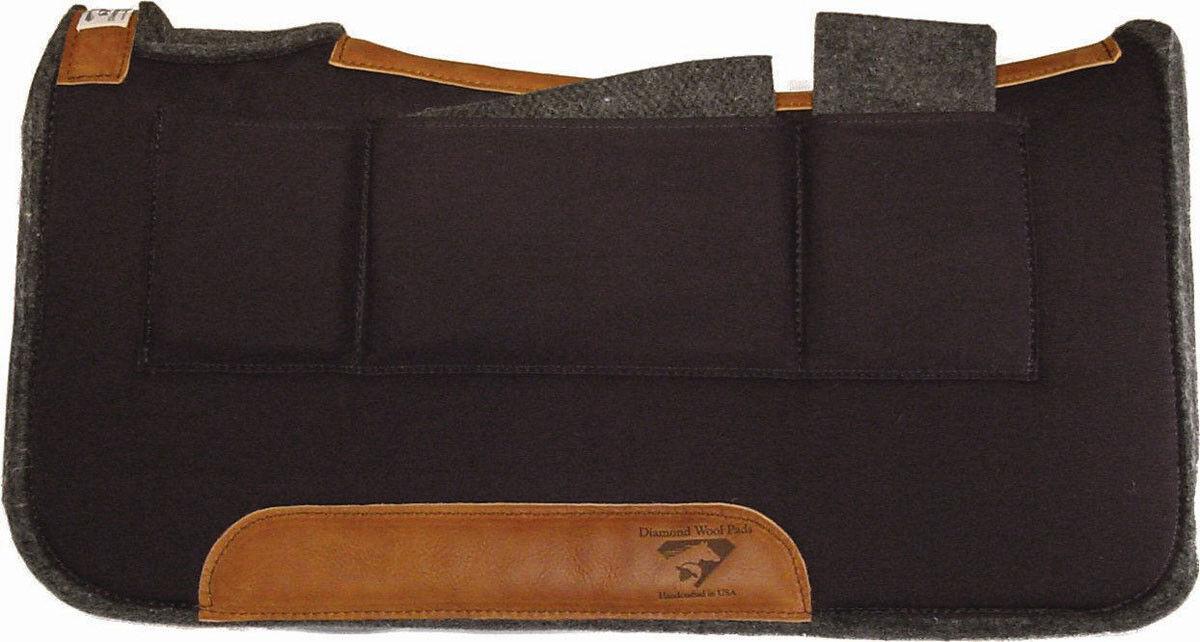 1   contorneadas Lana de alivio de presión Almohadillas de silla de montar Western con almohadillas de lana Cuñas Diamante  buena calidad