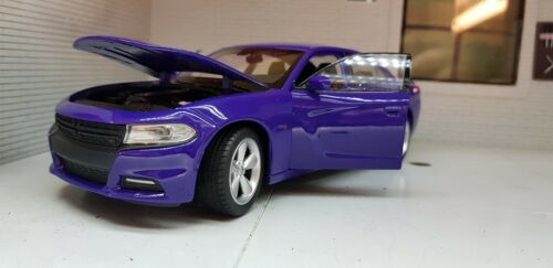 LGB 1:24 Maßstab Lila Dodge Charger V8 R/T 2016 Welly Detaillierte Autos