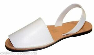 Donna Pelle Minorchina Autentico Di Uomo Shoes Minorca Bianco Scarpe Sandali wZOqUgqEx