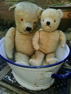 Antique-large-29-034-jointed-mohair-traditional-teddy-bear-collectors-teddy