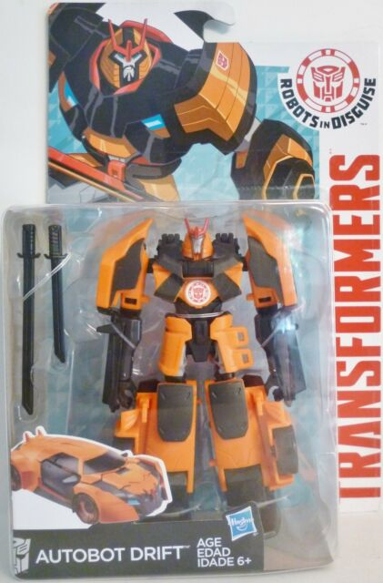"AUTOBOT DRIFT Transformers Robots in Disguise 5"" Deluxe Class Figure Wave 2 2015"