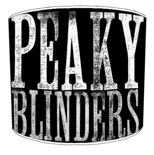 Peaky Blinders Lampshades Ideal To Match Peaky Blinders Duvets /& Wall Decals.