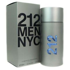 a96559f34aaa5 212 Nyc By Carolina Herrera Men 3.4 OZ 100 ML Eau De Toilette Spray ...