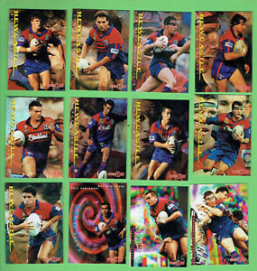 1996-SERIES-1-NEWCASTLE-KNIGHTS-RUGBY-LEAGUE-CARDS-19-CARDS