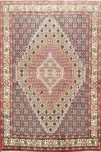 Traditional-Geometric-Bidjar-Wool-Area-Rug-Hand-Knotted-Oriental-Carpet-4-039-X5-039