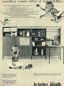 L-Publicite-Advertising-1963-Mobilier-Meubles-Les-Huchers-Minvielle