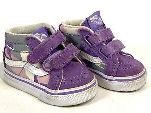 VANS Infant Girl Purple Camo High Top
