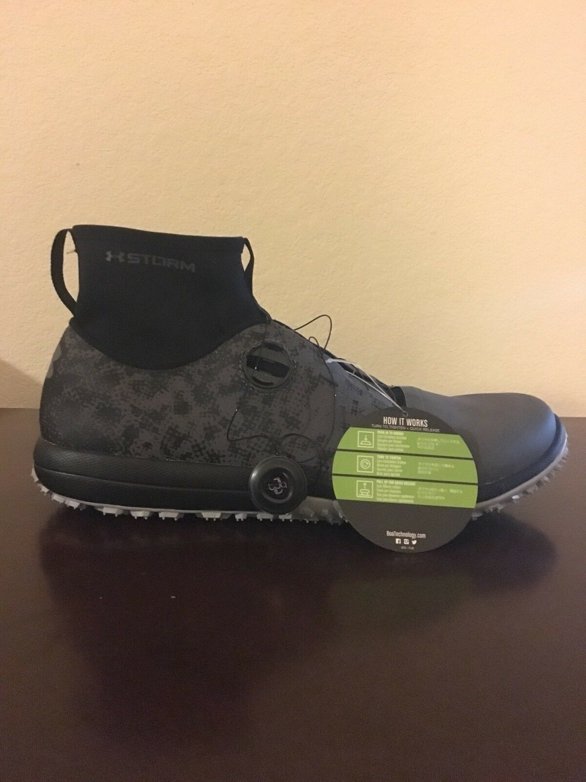 Under Armour Speed Tire Ascent Mid BOA Hiking Chaussures noir gris SZ 12