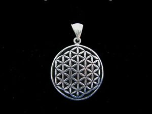 Large flower of life pendant 925 sterling silver the original one ebay image is loading large flower of life pendant 925 sterling silver mozeypictures Gallery