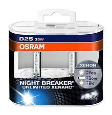 OSRAM D2S XENARC NIGHT BREAKER UNLIMITED Xenon Brenner Duo Box 66240XNB-HCB