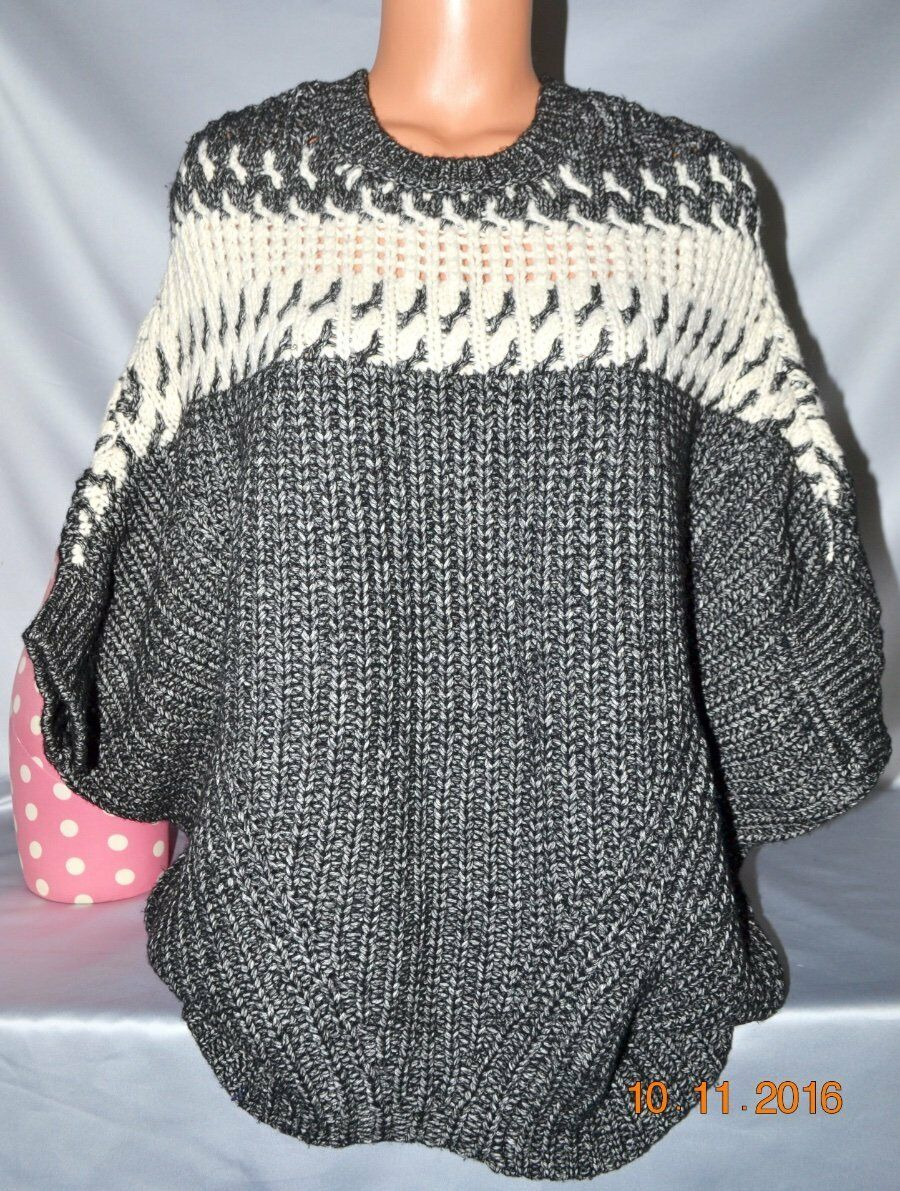 108 Victorias Secret CHUNKY Cozy Cable Knit SLOUCHY Sweater PONCHO NWT XS   S 5c03cf