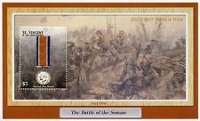 St Vincent & Grenadines 2002 MNH British War Medal WWI WW1 Somme 1v S/S Stamps