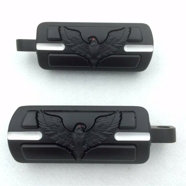 Eagle Male Mount Foot Pegs Peg Footrests Footpeg Support For Harley Dyna XL FL