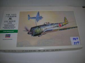 Oscar 1//48 Scale Late Version Japanese Army Fighter Aircraft Model Kit//Item # 09082 Hasegawa Nakajima Ki43-II Hayabusa
