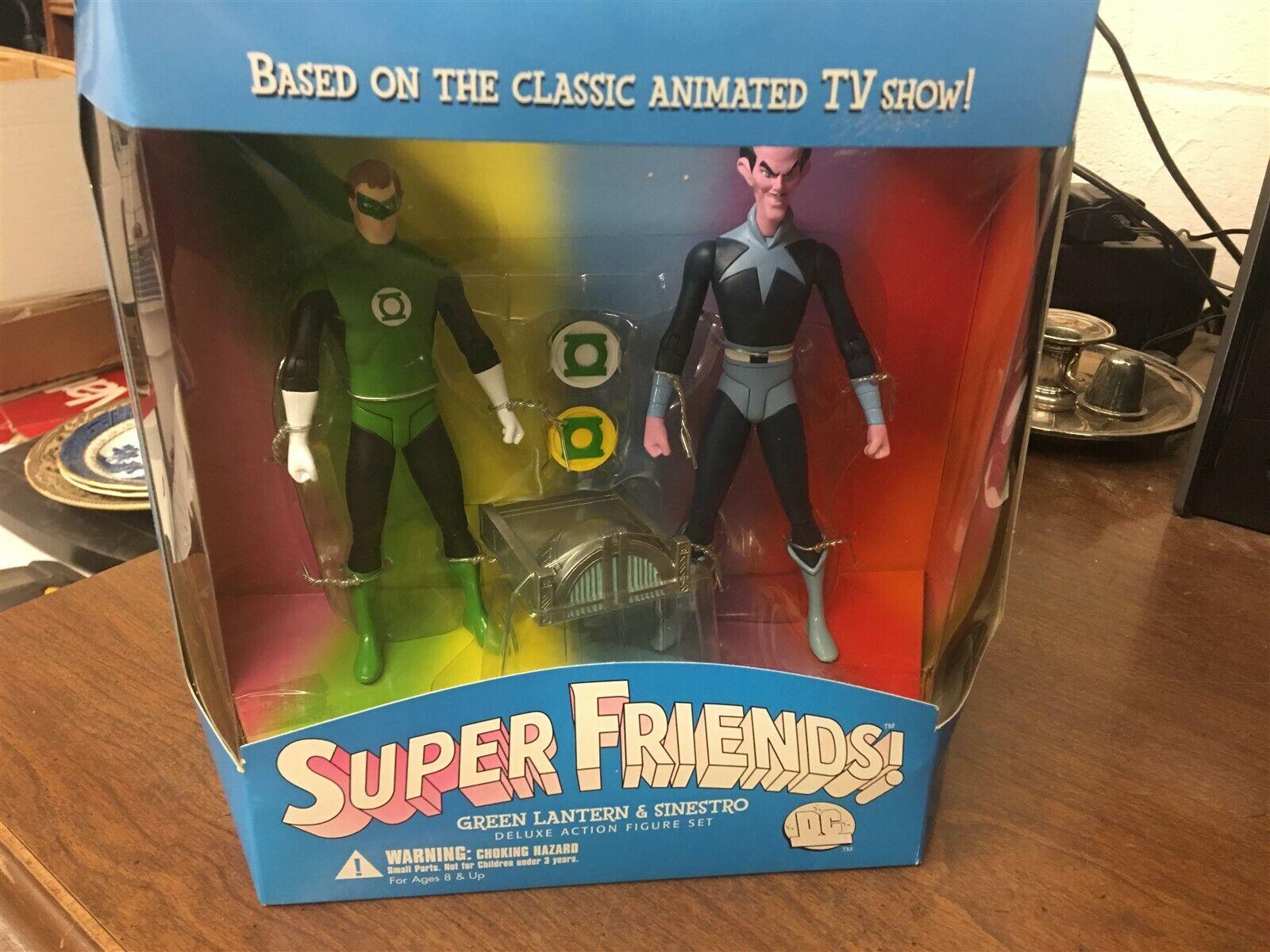 DC Direct Super Friends Grün Lantern & Sinestro Deluxe Action Figures MIB