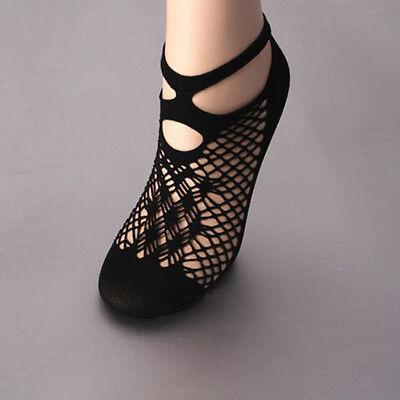 Sexy Lady Lace Black Ruffle Hollow Fishnet Mesh Short Ankle Socks Stockings Hot