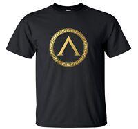 Spartan Warrior Golden Shield 300 , Mens T shirt