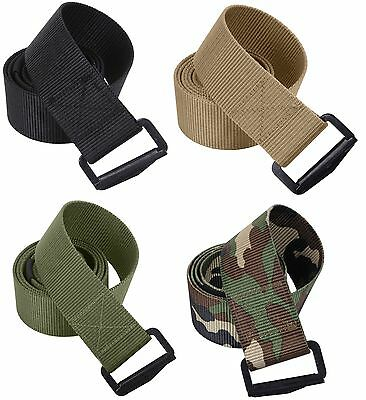 "Military 1 3//4/"" BDU Tactical Web Belt with Metal Buckle 44/"" Desert Tan Uniform"