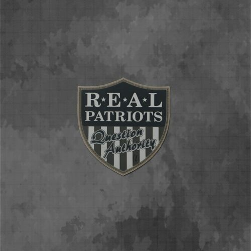 """Sons of Liberty /""""Real Patriots Question Authority/"""" 3D Morale Patch"""