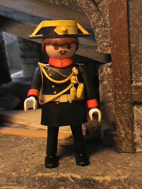 PLAYMOBIL CUSTOM WACHE CIVIL UNIFORM GALA REF 001