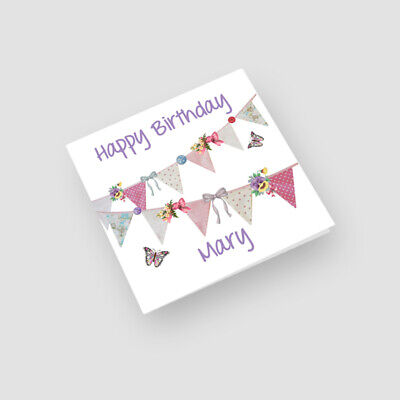 Mum, Friend, Sister etc Hand-Made Personalised /'Sunflowers/' Birthday Card
