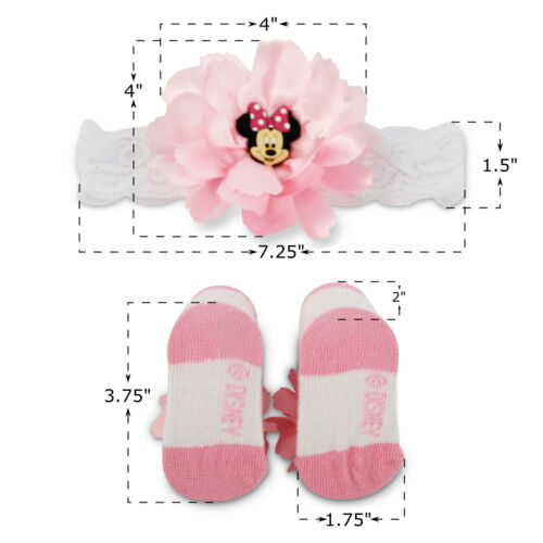 Disney Minnie Mouse Headwrap and Booties Gift Set Baby Girls Ages 0-12M