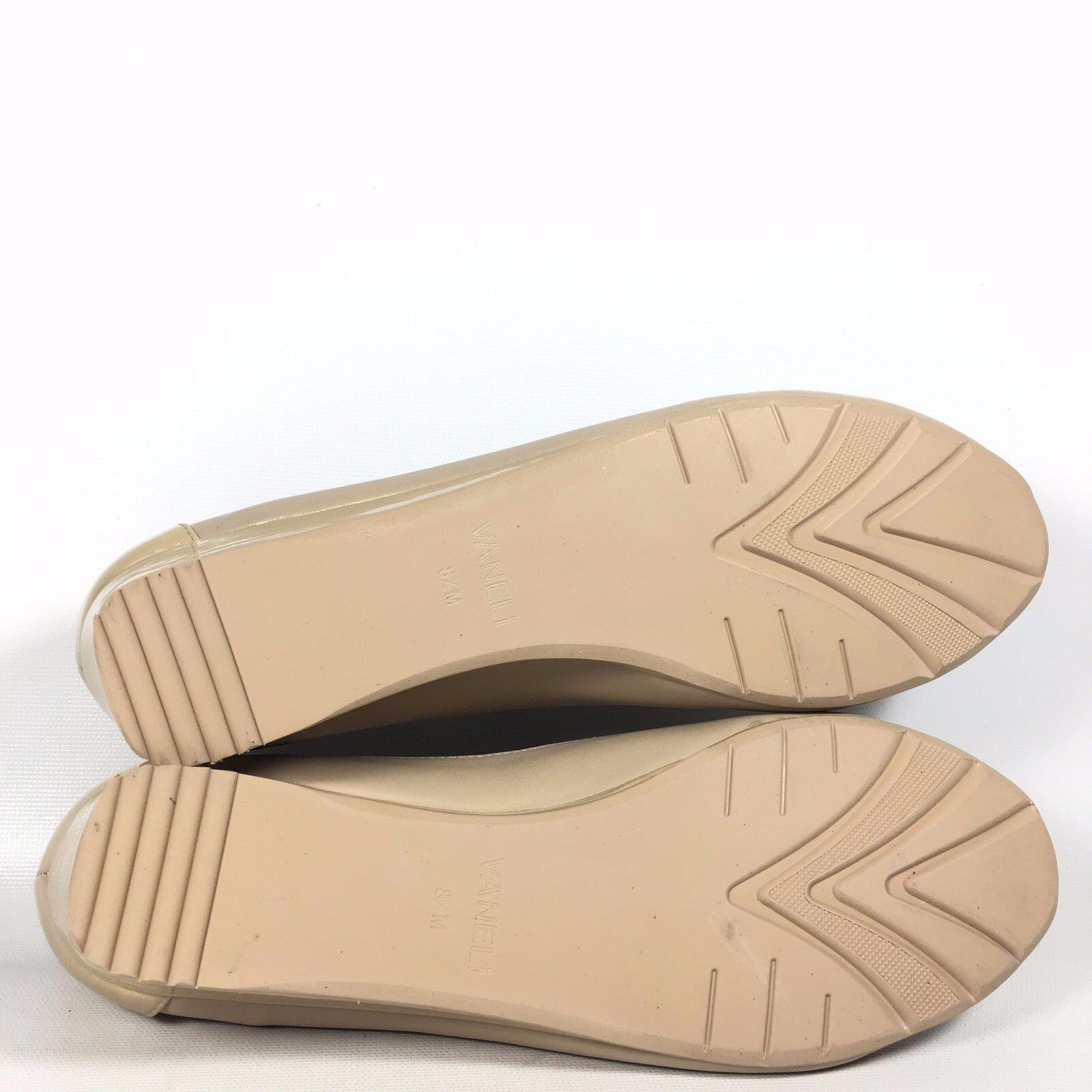 VANELi Purple Collection Valeka Damenschuhe Beige Patent Mesh Peep Toe Sandale Wedge