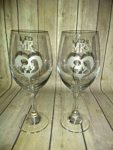 image is loading mr amp mrs jack and sally wine glasses