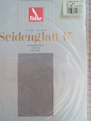 Nylon-strumpfhose Glanz Falkesilbergrau 15den 38-40mit Lycra Glatt Und Glänzend Hohe QualitäT Und Geringer Aufwand