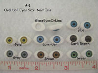 7 Pair Doll Eyes Oval Plastic 6mm Iris For Puppet, Troll, Jewelry, Doll (a-1)