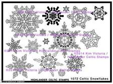 Celtic Snowflakes Unmounted Rubber Stamp Sheet with 15 Designs Ireland Scotland