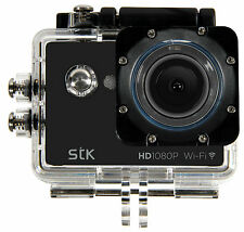 STK Explorer WiFi 1080P HD Waterproof Action Camera Kit - Black