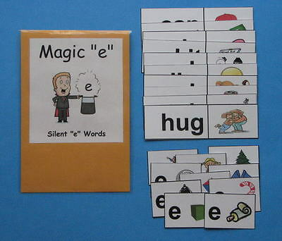 Teacher Made Literacy Center Resource Game Silent E Words