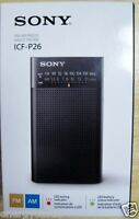 Sony Icf-p26 Personal And Portable Am/fm Radio (black)