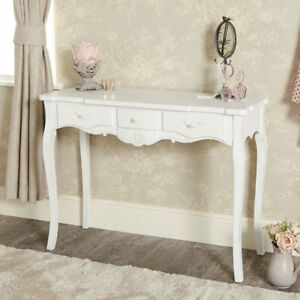 White 3 drawer console dressing table vintage French chic hall ...