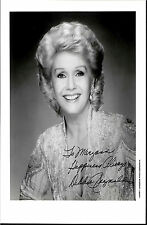 DEBBIE REYNOLDS, DECEASED CARRIE FISHER'S MOM SIGNED 8X10 WITH COA