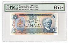 Canada $5 Dollars Banknote 1979 BC-53b PMG Superb GEM UNC 67 EPQ Star *