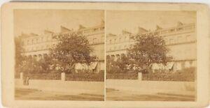 Architettura A Identificare Ca 1875, Foto Stereo Vintage Albumina PL62L8